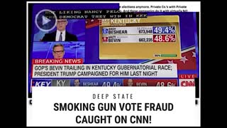 Live Voter Fraud On CNN - LIVE FEED gets updated.egregious example voter fraud ever on live TV