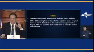 Cuomo Blames Nursing Home Staff For Pandemic Deaths