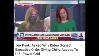 Jen Psaki Asked Why Biden Signed EO Giving China Access To US Powergrid, Her Response is Terrifying.