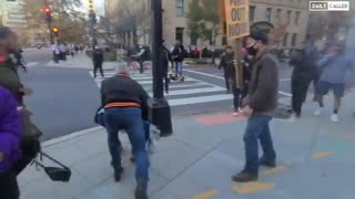 BLM-antifa thugs are running around and beating people on the streets in DC. Video by  @VenturaReport :